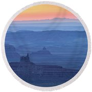 The Valley Of The Gods Round Beach Towel