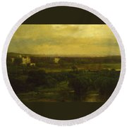 The Valley Of The Olives Round Beach Towel