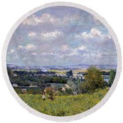 The Valley Of The Seine At Saint Cloud Round Beach Towel