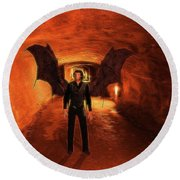 The Vampire Round Beach Towel