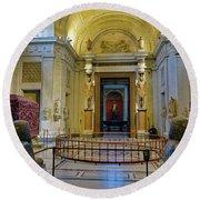 The Vatican Museum In The Vatican City Round Beach Towel