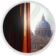The Vatican Round Beach Towel
