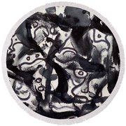 The Veritable Aspects Of Uli Arts #219 Round Beach Towel
