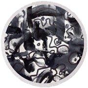 The Veritable Aspects Of Uli Arts #222 Round Beach Towel