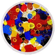 The Veritable Aspects Of Uli Arts #330 Round Beach Towel