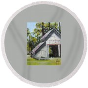 The Verona Barn Round Beach Towel