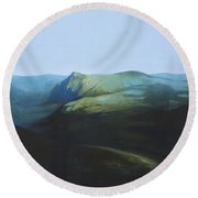 The View From Mount Tron Round Beach Towel