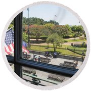 The View - Jackson Square Round Beach Towel