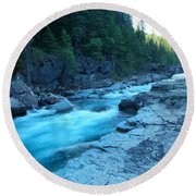 The View Of A River Round Beach Towel