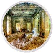 The Villa Of The Boat In The Antique Salon - La Villa Della Barca Nell'antico Salone Round Beach Towel