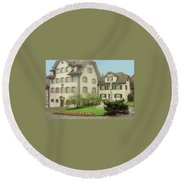 The Village Round Beach Towel
