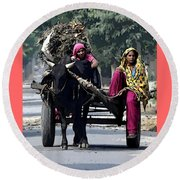 The Village Women  Round Beach Towel