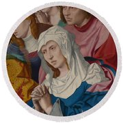 The Virgin Saints And A Holy Woman Round Beach Towel