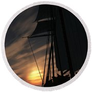 The Voyage Home  Round Beach Towel