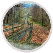 The Walk In The Woods Round Beach Towel