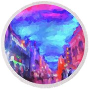 The Walkabouts - Sunset In Chinatown Round Beach Towel