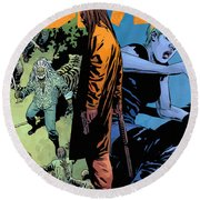 The Walking Dead - Now Or Never Round Beach Towel