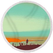 The Wandering Youth 4 Round Beach Towel