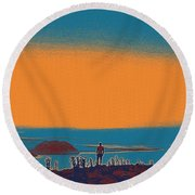 The Wandering Youth Round Beach Towel