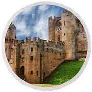 The Warwick Castle Round Beach Towel