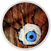 The Watcher Round Beach Towel