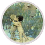 The Water-babies Round Beach Towel
