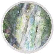 The Water Falls Round Beach Towel