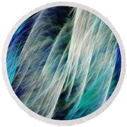 The Waterfall Abstract Round Beach Towel