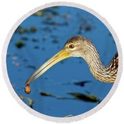The Water's Edge Seafood Cafe Round Beach Towel