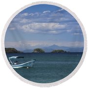 The Waters Of Coiba Round Beach Towel