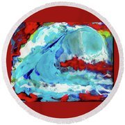 The Wave #2 Round Beach Towel