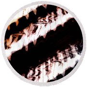 The Wave Station Round Beach Towel