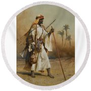 The Way From Sinai To Cairo Round Beach Towel