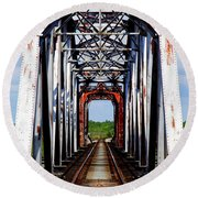 The Way Is Clear Round Beach Towel