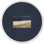 The Way To Nablus City Round Beach Towel