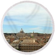 The Way To St. Peter's Basilica Round Beach Towel