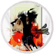The Wedding Picture Round Beach Towel