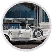 The Weddingmobile Round Beach Towel