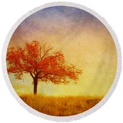 The Wednesday Tree Round Beach Towel