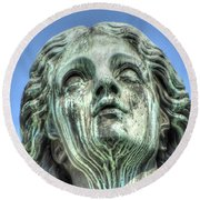 The Weeping Sculpture Round Beach Towel