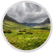 The Welsh Valley Round Beach Towel