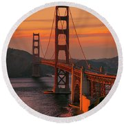 The Western Front Round Beach Towel