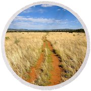 The Westward Trail Round Beach Towel