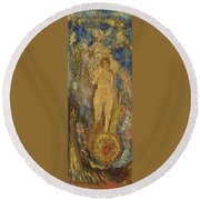 The Wheel Of Fortune Round Beach Towel
