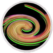 The Whirl Of Life, W13.1b Round Beach Towel