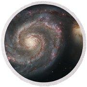The Whirlpool Galaxy M51 And Companion Round Beach Towel