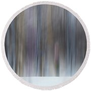 The Whisper Of A Winter Wood Redux Round Beach Towel by Wayne King