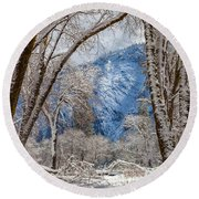 The White Forest Round Beach Towel