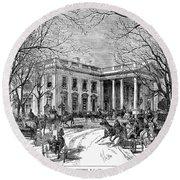 The White House, 1877 Round Beach Towel