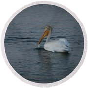 The White Pelican 1 Round Beach Towel
